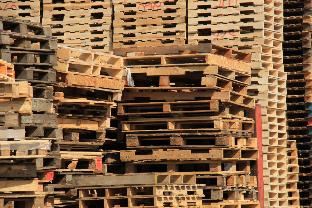 used pallets stack near me.