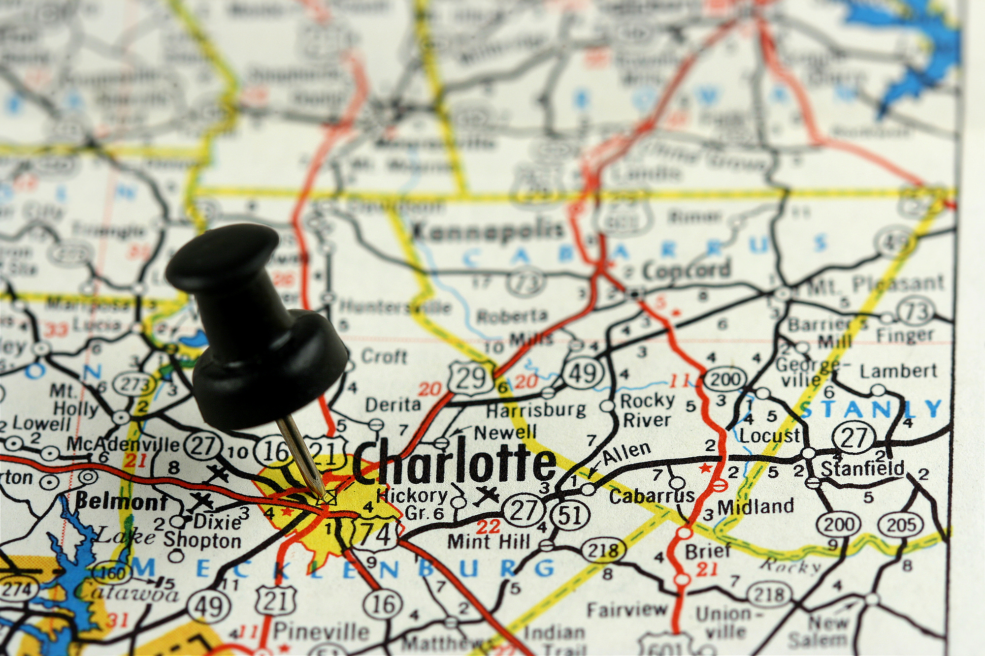 map of charlotte where pallet removal services are offered.